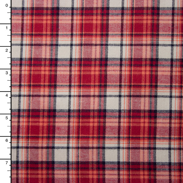 """Red, White, and Black Plaid 45"""" Flannel"""