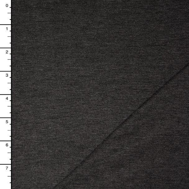 Charcoal Heather Stretch Rayon Jersey Knit