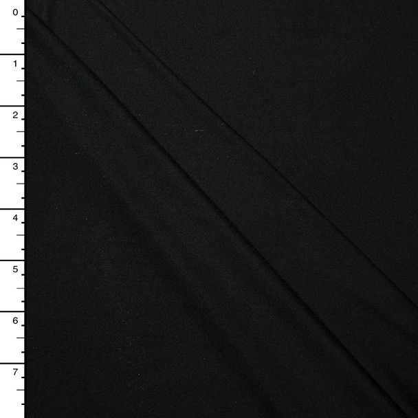 Black Double Brushed Poly Spandex Knit