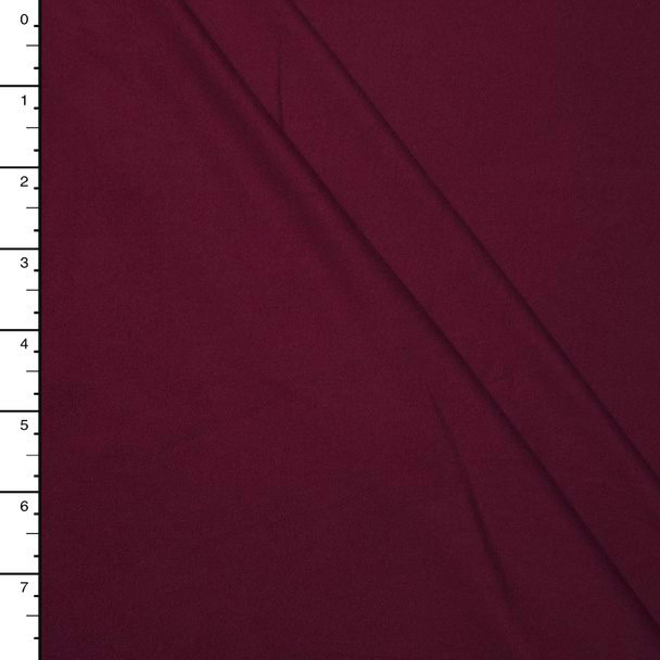 Burgundy Double Brushed Poly Spandex Knit