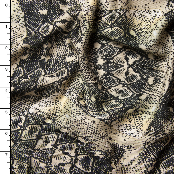 Snakeskin Kaleidoscopic Rayon Challis Print