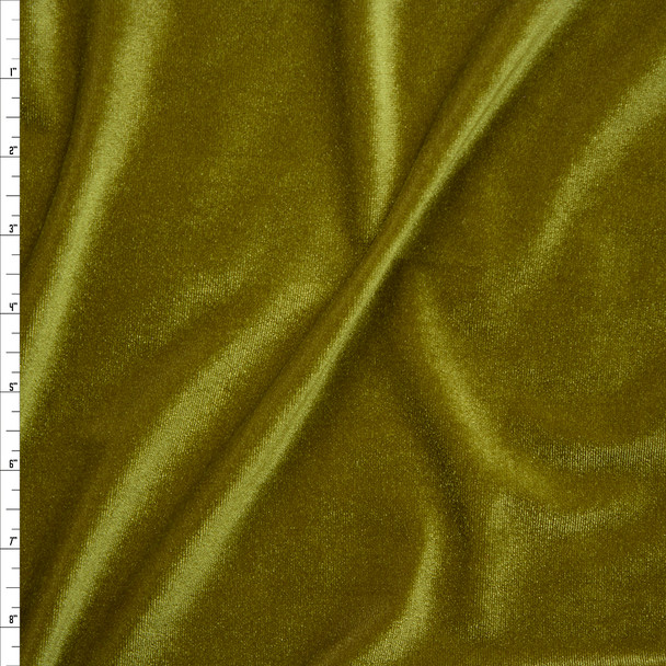 Olive Green 4-way Stretch Velvet By The Yard