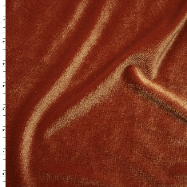 Burnt Orange 4-way Stretch Velvet By The Yard