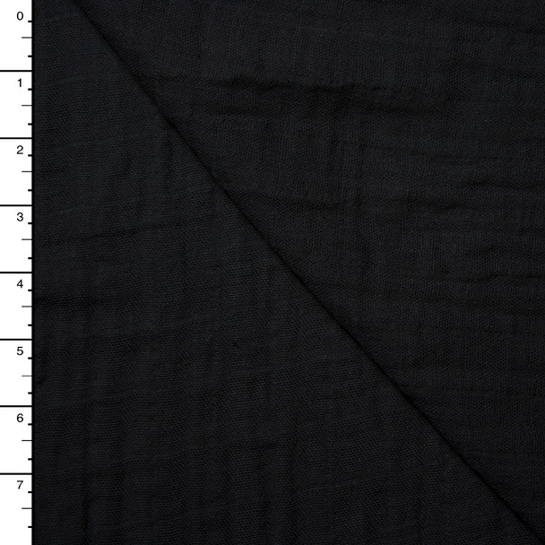 Black Soft Double Gauze