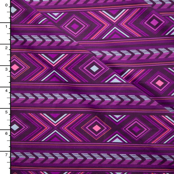 Pink and Purple Vibrant Geometric Nylon/Lycra