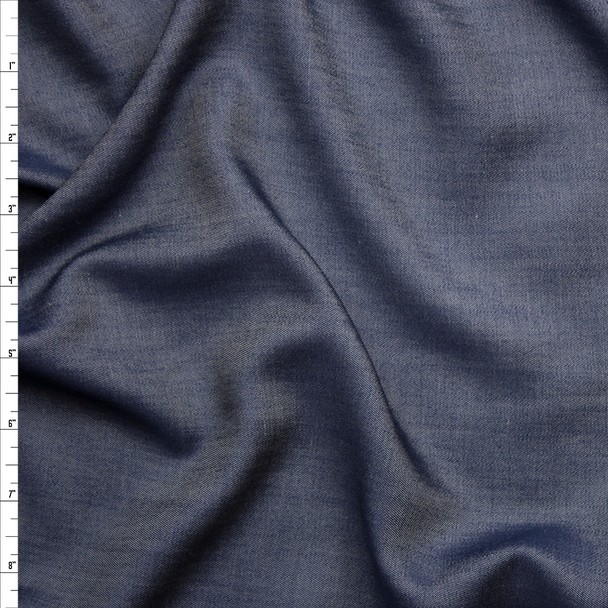 Lightweight Indigo Tencel Denim Fabric By The Yard