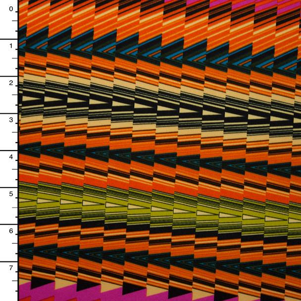 Vibrant Kaleidoscope Stripe Stretch Poly Knit