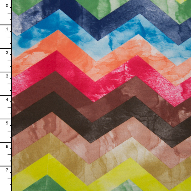 Multi Color Marbled Chevron Nylon/Lycra
