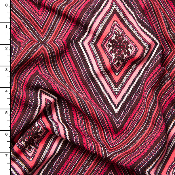 Red Diamond Pattern Liverpool Knit