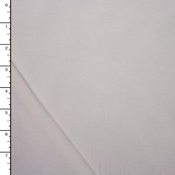 Lightweight White Cotton/Bamboo Stretch Jersey Knit