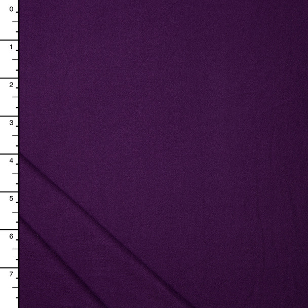 Plum Double Brushed Poly Spandex Knit