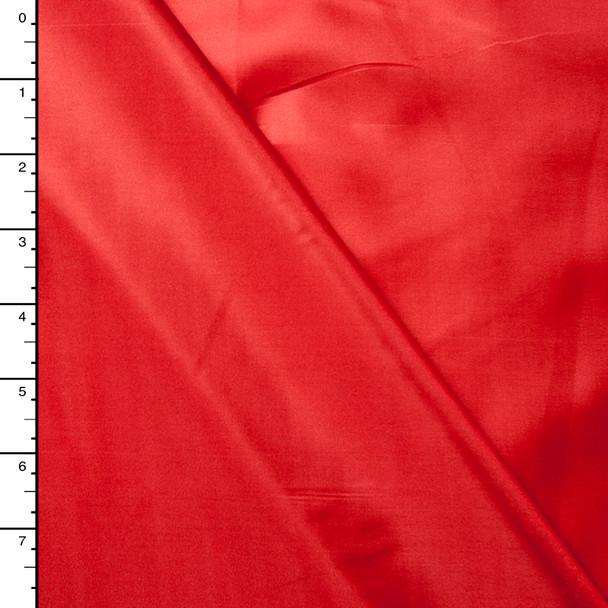 Red Poly Habotai Lining
