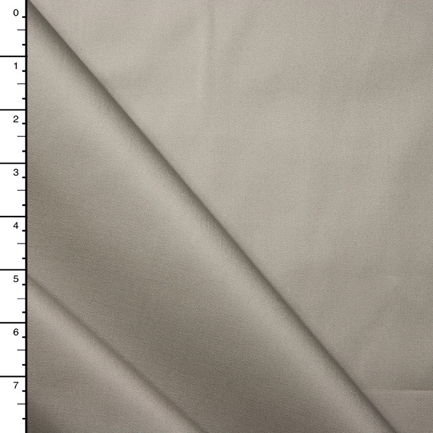 Warm Silver Midweight Stretch Cotton Sateen
