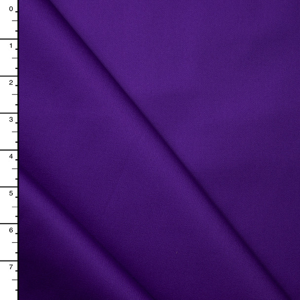 Bright Purple Midweight Stretch Cotton Sateen
