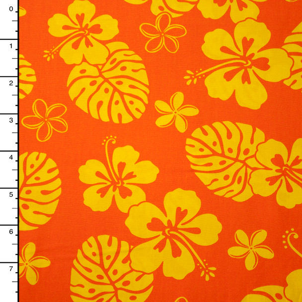 Orange and Yellow Hawaiian Print Cotton by Robert Kaufman