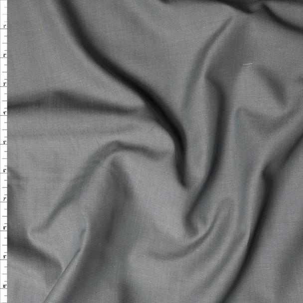Grey 'Greenwich' Fine Chambray by Robert Kaufman Fabric By The Yard