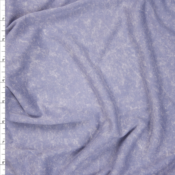 Muted Blue Mottled Brushed Jersey Knit Fabric By The Yard