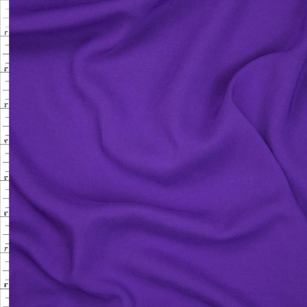 Purple Rayon Challis Fabric By The Yard