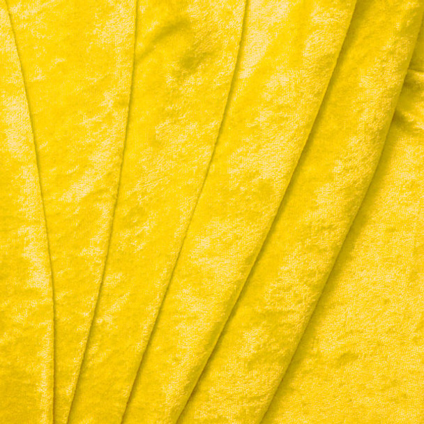 Cali Fabrics Yellow Crushed Panne Velour