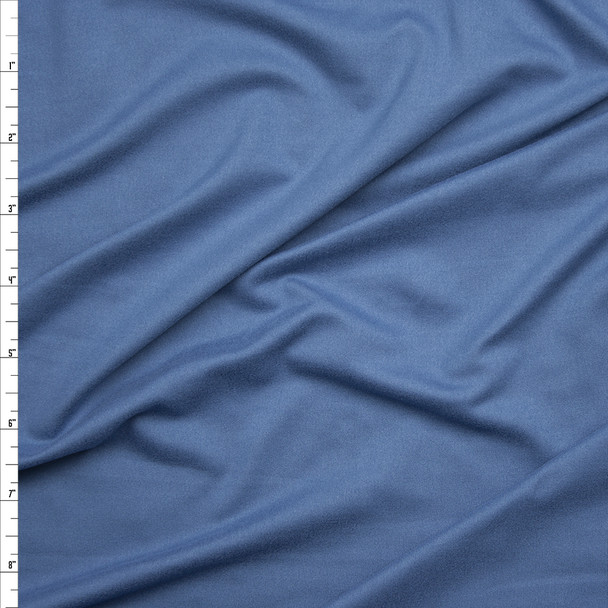 Slate Blue Double Brushed Poly Spandex Knit Fabric By The Yard