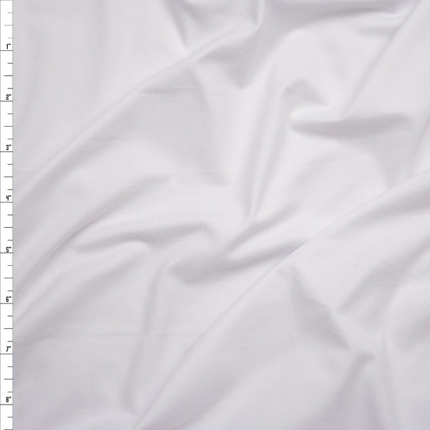 Bright White Double Brushed Poly Spandex Knit Fabric By The Yard
