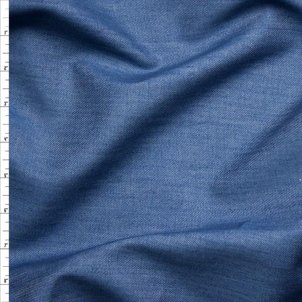 Medium Blue Midweight Tencel Denim Fabric By The Yard