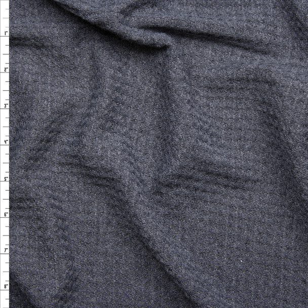 Charcoal Soft Waffle Sweater Knit Fabric By The Yard