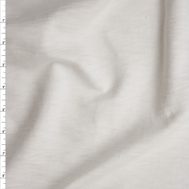 White Slubbed Midweight Cotton French Terry Fabric By The Yard
