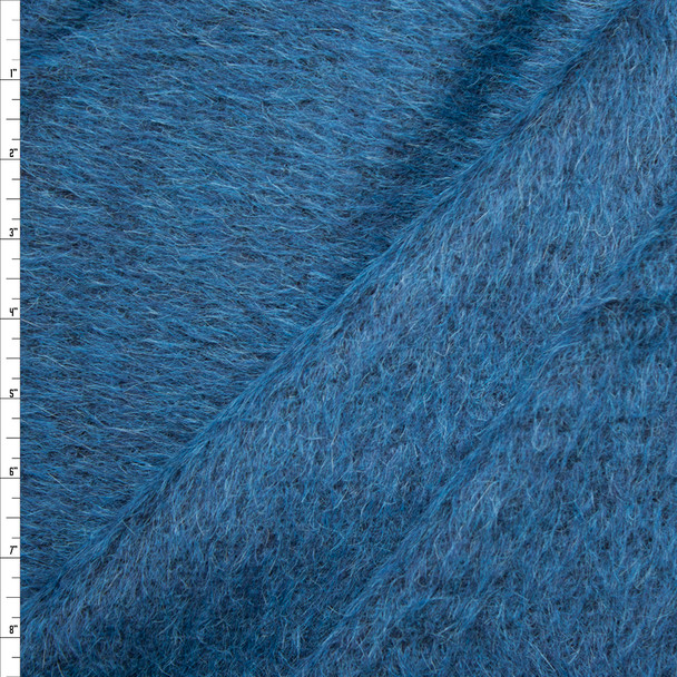 Rich Teal Mohair/Poly Blend Coating Fabric By The Yard