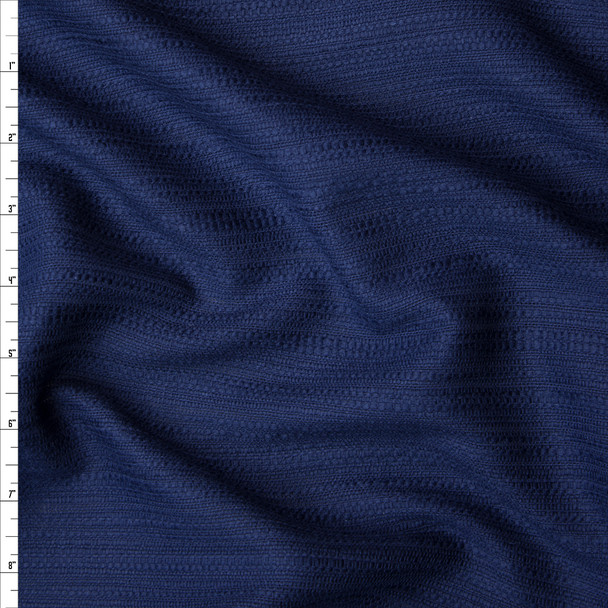 Midnight Blue Cotton Boucle by Robert Kaufman Fabric By The Yard