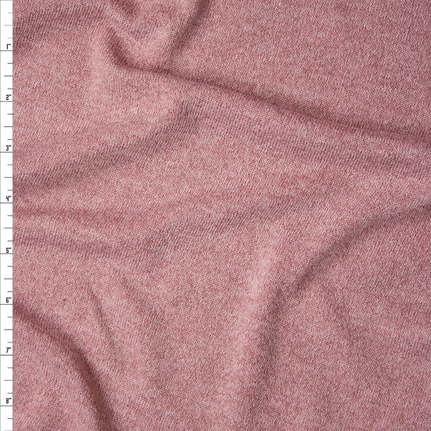 Dusty Pink Stretch Sweater Knit Fabric By The Yard