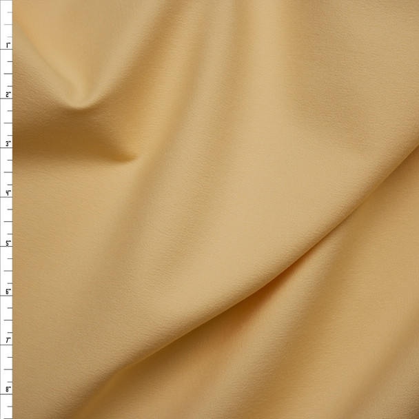 Butter Yellow Midweight Stretch Rayon Crepe-like Twill Suiting from 'Ralph Lauren' Fabric By The Yard