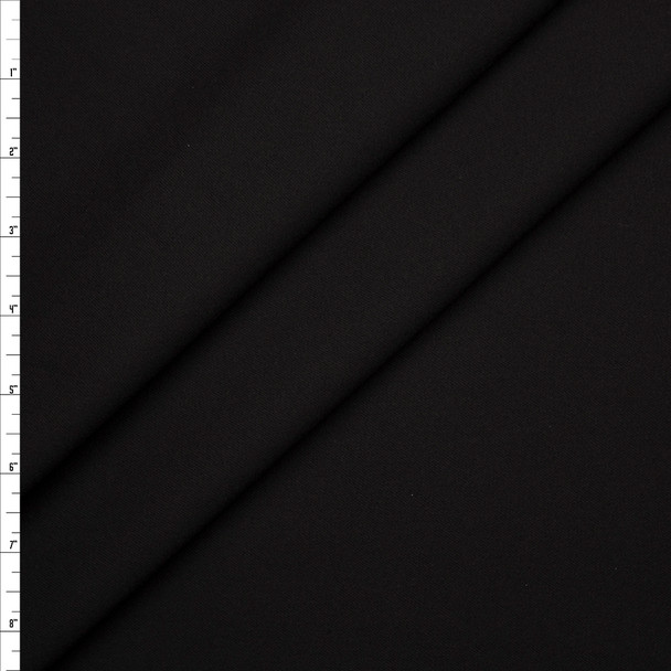 Black Stretch Brushed Midweight Twill from 'Ralph Lauren' Fabric By The Yard