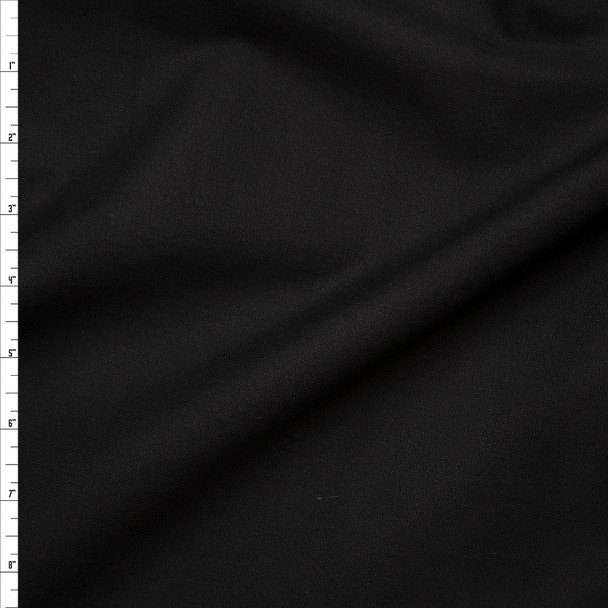 Black Midweight Stretch Rayon Crepe-like Twill Suiting from 'Ralph Lauren' Fabric By The Yard