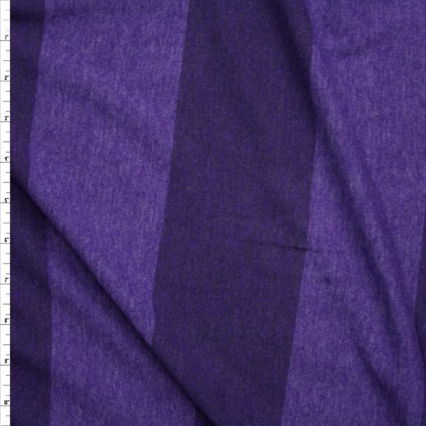 Purple Wide Stripe Lightweight Jersey Knit Fabric By The Yard