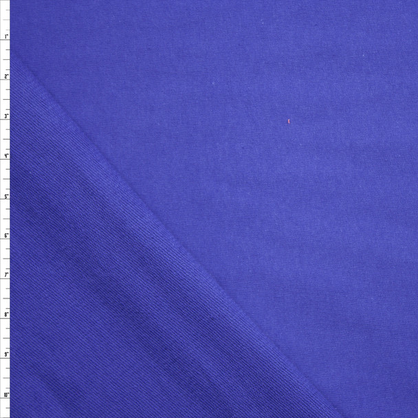 Violet Blue Midweight Cotton French Terry Fabric By The Yard