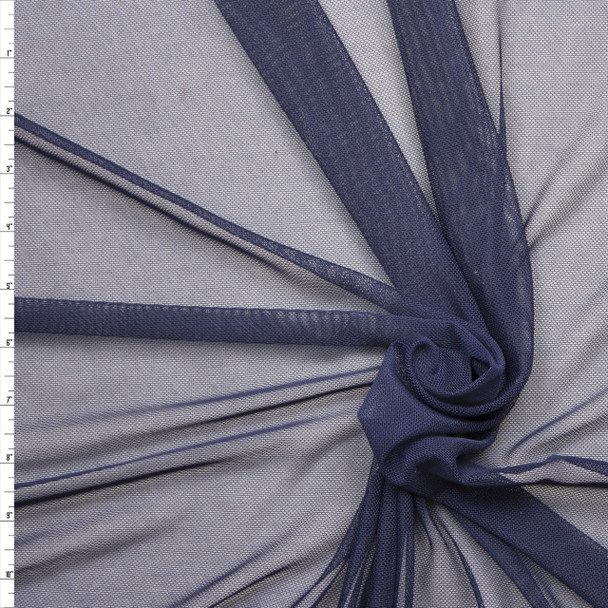Navy Blue Power Mesh Fabric By The Yard