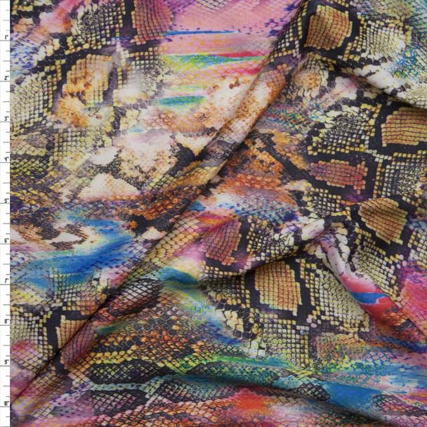 Snakeskin Kaleidoscope 2-way Stretch Nylon/Lycra Knit Fabric By The Yard