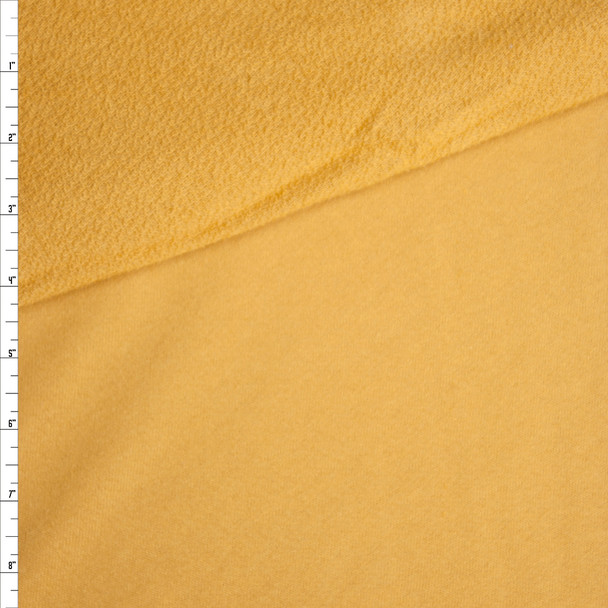 Light Mustard Soft Midweight Rayon French Terry Fabric By The Yard