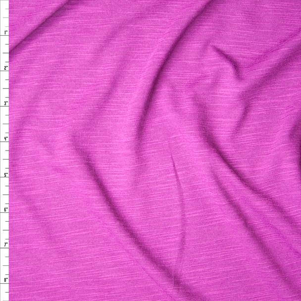Fuchsia Slubbed Rayon Jersey Knit Fabric By The Yard