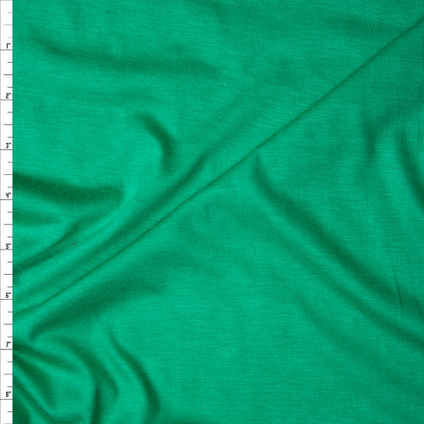 Bright Green Rayon Jersey Knit Fabric By The Yard