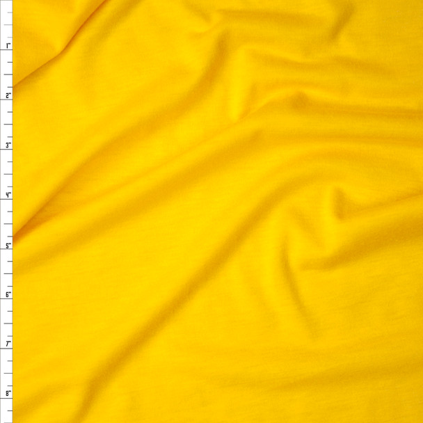 Sunshine Yellow Rayon Jersey Knit Fabric By The Yard