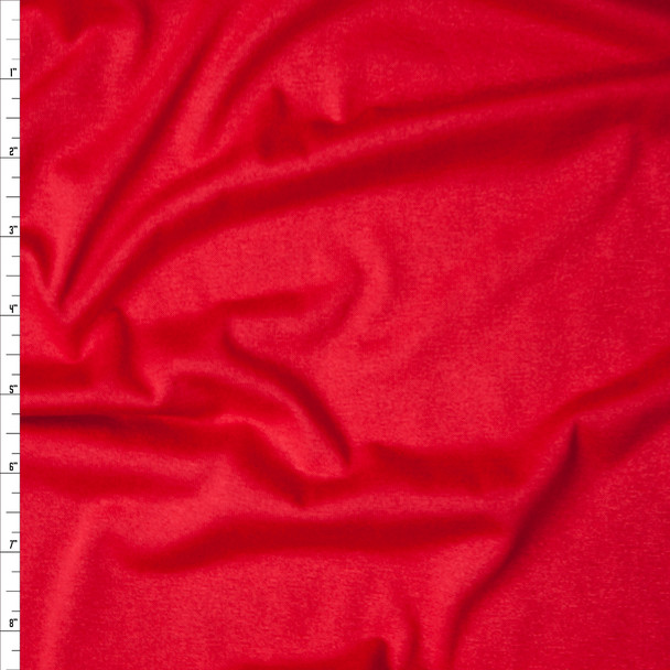 Red Stretch Rayon Jersey Knit Fabric By The Yard