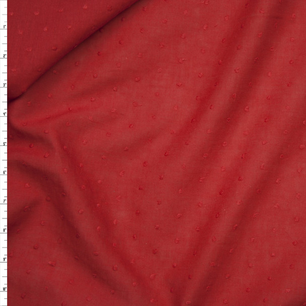 Red Clip Dot Cotton Lawn Fabric By The Yard