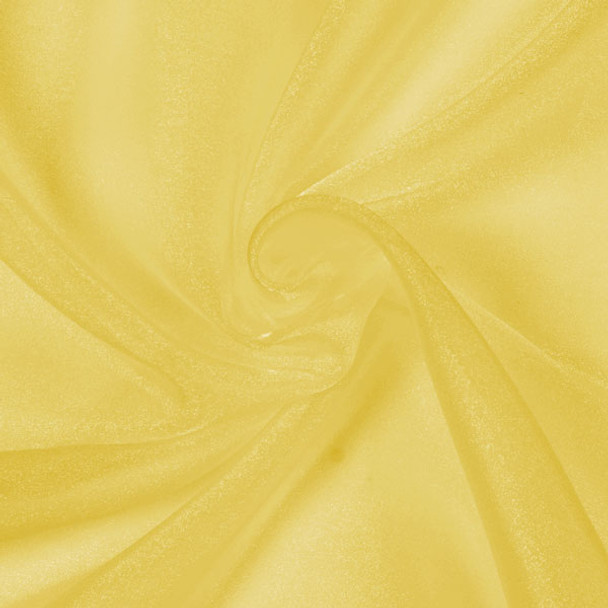 Yellow Sparkle Organza