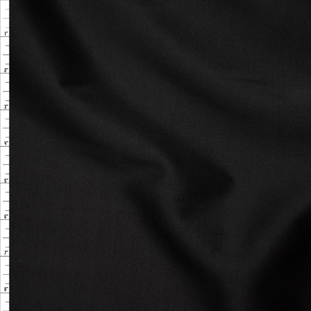 Solid Black Scuba Knit Fabric By The Yard