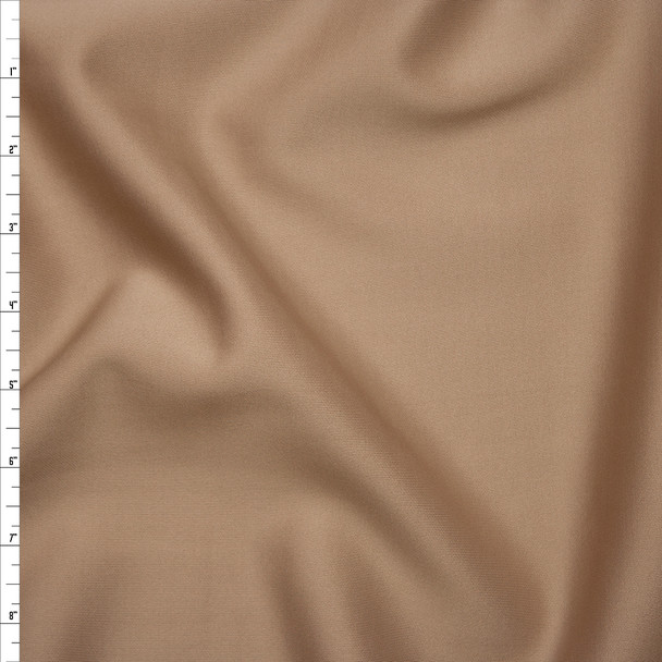 Solid Tan Scuba Knit Fabric By The Yard
