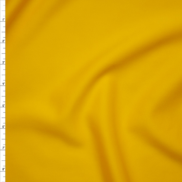 Solid Yellow Scuba Knit Fabric By The Yard