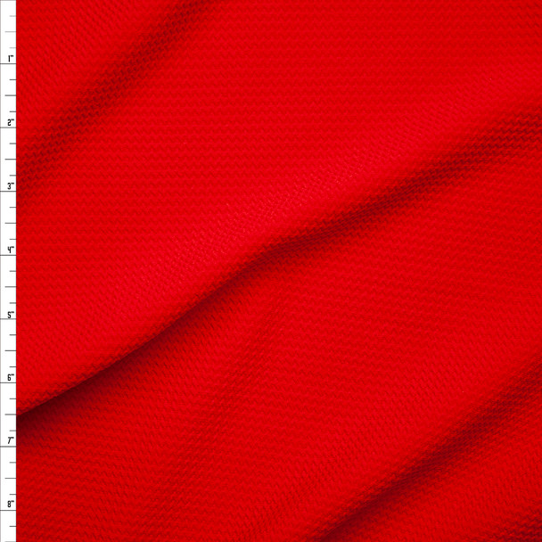 Solid Red Braided Texture Liverpool Knit Fabric By The Yard