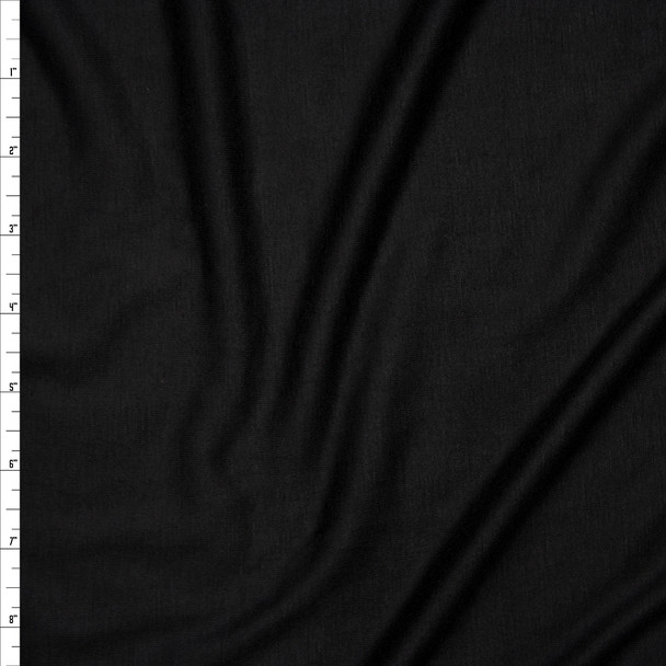 Black Lightweight 4-way Stretch Rayon Lycra Jersey Knit Fabric By The Yard